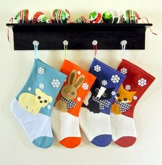 Christmas Stockings by Allenbrite by AllenbriteStudio, $25.00  Fabulously Cute!