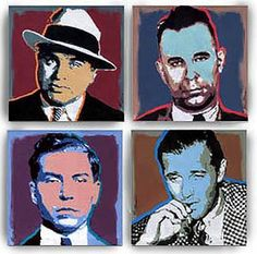 Al Capone, John Dillinger, Lucky Luciano, and Bugsy Siegel