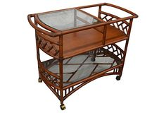 Ficks Reed Bamboo Bar Cart | Life's a Breeze | One Kings Lane