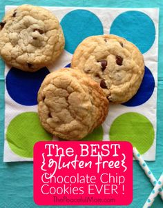 Yes you can buy #glutenfree cookie mix but if you want Grandma's warm, gooey chocolate chip cookies THIS is the recipe. -- from ThePeacefulMom.com
