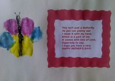 mother's+day+craft+preschool | Hand Butterfly Mother's Day Gift