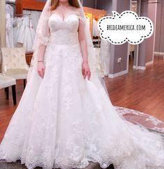 Wedding Dress at Bridal and Veil in San Diego, California.