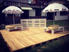 Build Pallets Deck and Furniture