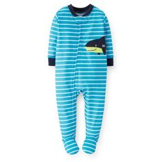 Carter's® Stripes and Shark Applique PJ in Light Blue - buybuyBaby.com