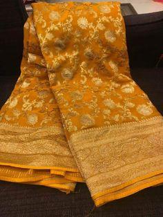 Silk Saree Banarasi, Khadi Kurta, Indian Silk Sarees, Soft Silk Sarees, Georgette Sarees, Designer Sarees Wedding, Saree Wedding, Bridal Sarees, Desi Wedding