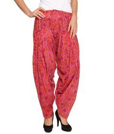Bedazzle Pink Printed Cotton Patiyala, http://www.snapdeal.com/product/bedazzle-pink-printed-cotton-patiyala/639114792285