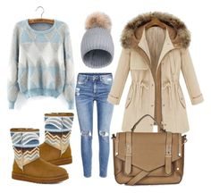 """""""Untitled #55"""" by senyoritacuba on Polyvore featuring H&M, Topshop and UGG Australia"""