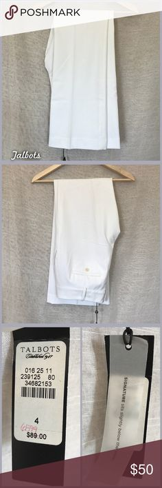 Talbots Dress Pants NWT size 4, white, signature fit pants from Talbots. •I'm open to offers and negotiations on all items!• Talbots Pants