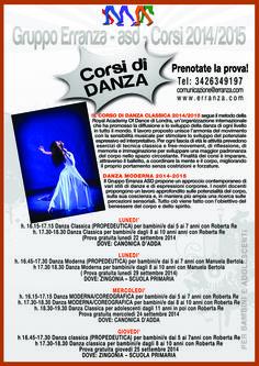 I corsidi danza classica e moderna del Gruppo Erranza ASD a Canonica d'Adda e a Zingonia