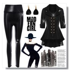 """Woman in black!"" by s-o-polyvore ❤ liked on Polyvore"