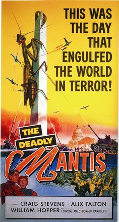 vintage horror movie poster: the deadly mantis 1957