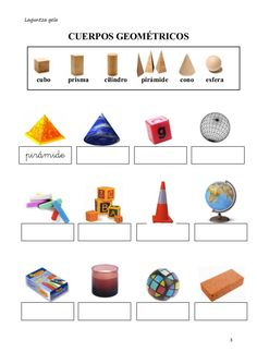 Cuerpos geométricos identificar