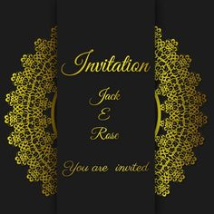 Continental Gold Invitation Background Material Vertical Version black wedding card gold invitation card template with gold border and frame. Wedding Invitation Posters, Wedding Invitation Background, Wedding Posters, Gold Wedding Invitations, Invitation Birthday, Wedding Background Images, Black Background Images, Frame Background, Wedding Frames