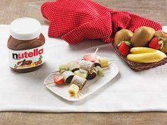 Crêpes-Spießchen mit nutella
