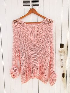 Knit Cotton Pink  Sweater  women's clothing by armarioenruinas