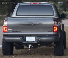 This 2004 Toyota Tundra RWD is running TIS wheels Atturo Trail Blade MT tires with ReadyLIFT Leveling Kit suspension. Toyota Tundra Lifted, Toyota 4runner, Toyota Tacoma, Toyota Trucks, Chevy Trucks, Pickup Trucks, Lifted Trucks, 2006 Tundra, Tundra Trd