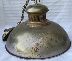 Large Gold Rusty Metal Pendant Ceiling Light by TymelessTrinkets