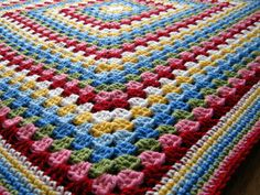Crochet Afghan Blanket Cath Kidston Colours In by Thesunroomuk