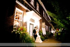 There are great areas throughout the village that work as a great backdrop for your wedding pictures.