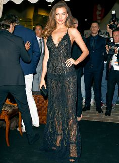 Irina Shayk Exposes Pasties in Sheer Dress at Cannes 2014: Pictures - Us Weekly