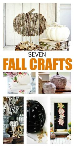Looking for creative fall craft projects? Oh, good. I have seven projects you can make in under an hour with step-by-step instructions. Fall pumpkins. Fall front door. Fall decor ideas. Fall decorating. Fall crafts.