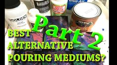 This is the second part of my quest to find alternatives to Liquitex Pouring Medium. I have gathered 3 more possible lower cost candidates and put them throu...