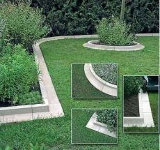 Arcadian Lawn and Paving Edging: this is a wonderful way to make clean landscaping. More elegant than brick, cobblestone, or pounding plastic edging. I've been contemplating how to give my new home a (Diy Garden Edging)