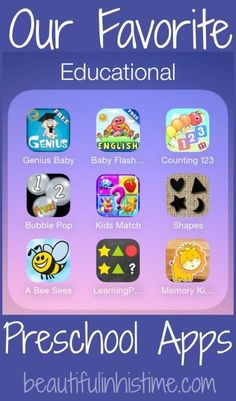 Our favorite preschool apps {at-home preschool resources for the very-tired, non-creative, really busy mom}
