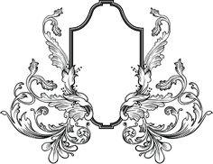 Коллекция картинок: Черно-белое для перевода в зеркальном отображении, часть 8