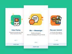 40 Mobile Apps Onboarding Designs for Your Inspiration - Hongkiat Ux Design, Design Sites, Flat Design, Mobile App Design, Mobile Ui, Application Design, Mobile Application, Wireframe, Design Thinking
