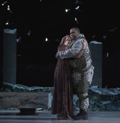 Alice Coote as Dejanira and Eric Owens as Hercules in the Canadian Opera Company production of Hercules, 2014. Conductor Harry Bicket, director Peter Sellars, set designer George Tsypin, costume designer Dunya Ramicova and lighting designer James F. Ingalls. Photo: Michael Cooper