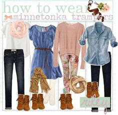 """""""how to wear minnetonka trampers ♥"""" by the-polyvore-tippersx ❤ liked on Polyvore"""