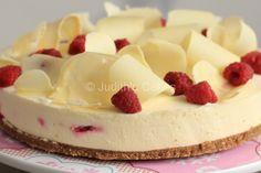 Witte chocolade cheesecake met frambozen (2) - Judith's Cakes