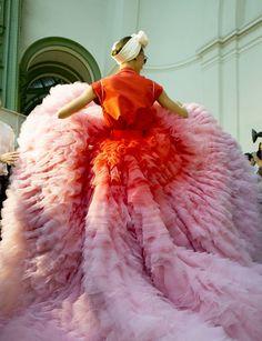 Bold dress choice