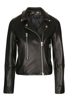Boutique Leather Biker Jacket / Topshop