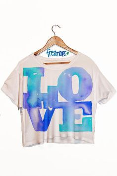 LOVE crop top from Freshtops