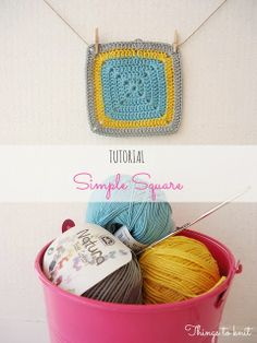 El blog de Dmc: Tutorial Simple Square de ganchillo