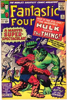 Fantastic Four 25 KEY comic 1964 Hulk vs The Thing 2nd Captain America FN+ 1964