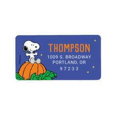 Snoopy and Pumpkin First Birthday Label: Snoopy and Pumpkin First Birthday Label $3.30 by peanuts Pumpkin First Birthday, Fall Birthday, Baby 1st Birthday, Birthday Party Invitations, Birthday Party Decorations, Charlie Brown Characters, Snoopy Birthday, Custom Address Labels, Expecting Baby
