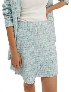 Women, Elisa Mini Skirt Plaid Skirts, Mini Skirts, Tweed Fabric, David Jones, Tartan Plaid, Line Design, Lace Shorts, Size 14, Casual Shorts