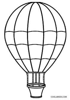 Free Printable Hot Air Balloon Template Collage Scrapbooking