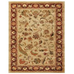 Grand Bazaar Tufted Wool Pile Wakefield Rug in Ivory/ Red (8' x 11')