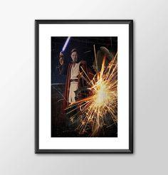 Obiwan Kenobi Jedi Knight - Star wars inspired Print - BUY 2 Get 1 FREE by ShamanAlternative on Etsy