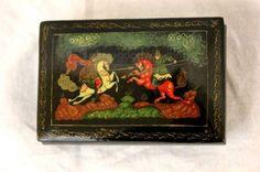 shopgoodwill.com: Vtg Russian Hand Painted Trinket Box