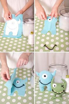Homemade Softie Tutorials ---  Monster Softie