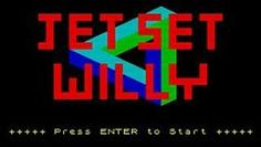 Jet Set Willy titles on ZX Spectrum (1984)