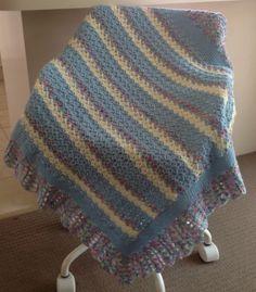 Handmade Popcorn and Shells Crochet Baby Blanket on Etsy, $25.00 AUD