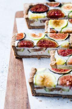 Ginger Fig Tart with Chestnut-Almond Crust {vegan & gluten-free}