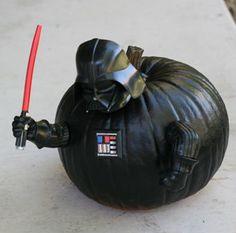 Darth Vader Pumpkin Push-ins Star Wars Halloween, Halloween Themes, Halloween Pumpkins, Fall Halloween, Halloween Party, Happy Halloween, Star Wars Darth, Lego Star Wars, Darth Vader Pumpkin