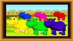 Learn colors with Hippopotamus. Colors learning Videos for Kids Toddler ...